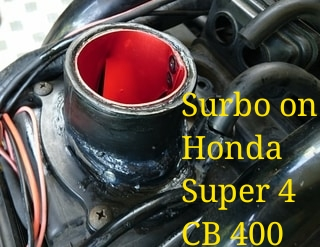 Photo: Surbo on air filter box of Honda Super 4
