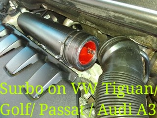 Surbo fitted in air pipe of Volkswagen Tiguan/ Passat/ Audi A3