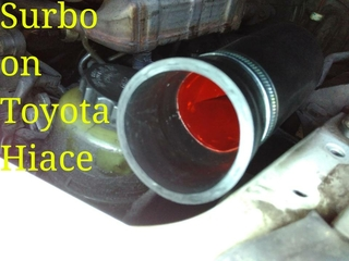 Surbo in pipe of Toyota Hiace